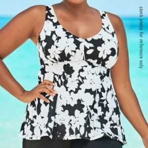 NWT Swimsuits for All Flowy Tankini Top sz18